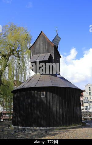 The Old Crane in Lueneburg - Stock Photo