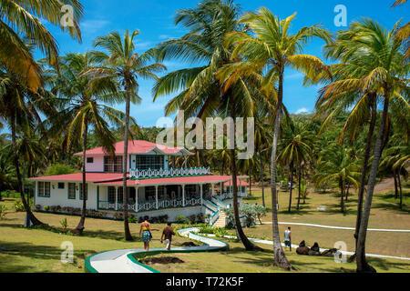 Weekend house of President Daniel Ortega, Big Corn Island, Caribbean Sea, Nicaragua, Central America - Stock Photo