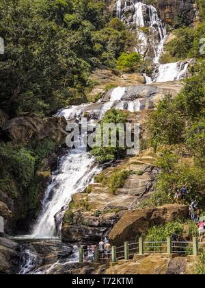 Sri Lanka - Ella - Ravana Falls - Stock Photo