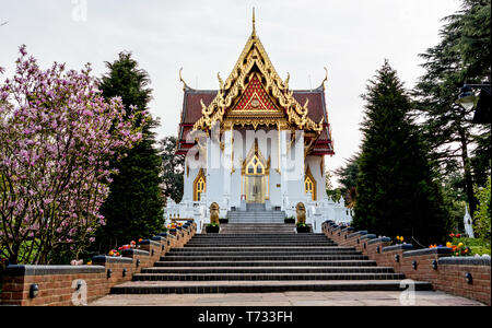 Wat Buddhapadipa Thai Buddhist Temple in Wimbledon Village London UK - Stock Photo