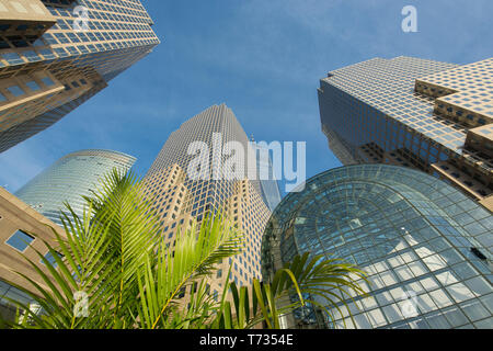 SKYSCRAPERS WESTFIELD WORLD TRADE CENTER SHOPPING MALL (©SANTIAGO CALATRAVA 2016)DOWNTOWN MANHATTAN NEW YORK CITY USA - Stock Photo