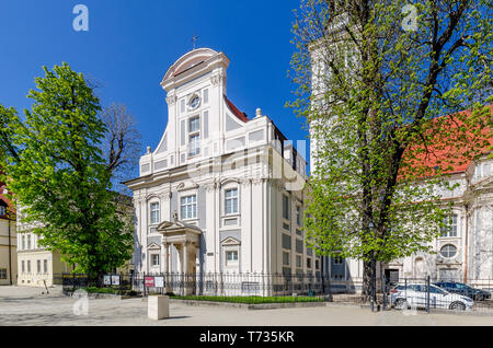 Wroclaw, Lower Silesian province, Poland. Mausoleum of the Silesian Piasts, part of the St. Clare Church. - Stock Photo