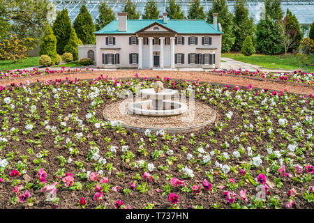 Miniature House at the Floral Showhouse in Niagara Falls  Ontario Canada