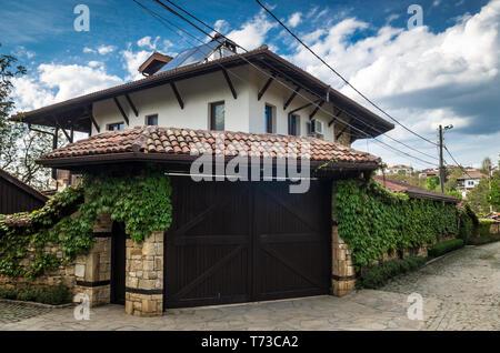 Arbanassi, Veliko Tarnovo, Bulgaria. Traditional bulgarian house in Arbanasi - Stock Photo