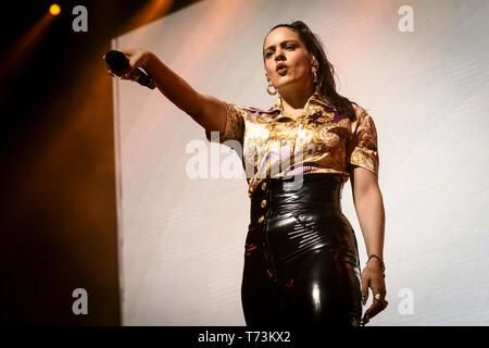 May 2, 2019 - Toronto, Ontario, Canada - Spanish singer RosalÃa Vila Tobella, better known by her stage name RosalÃa, performed a sold out show in Toronto. In picture: ROSALIA (Credit Image: © Angel Marchini/ZUMA Wire) - Stock Photo