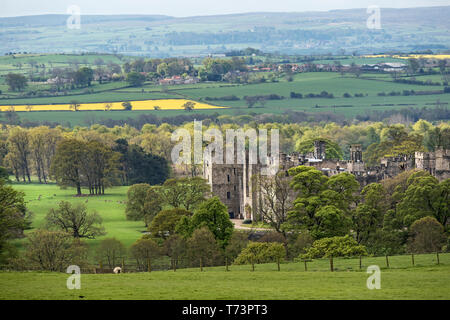 Raby Castle, Staindrop, Teesdale, County Durham, UK - Stock Photo