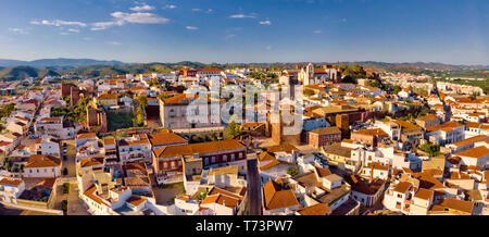 Aerial view of Silves town, the Algarve, Portugal - Stock Photo