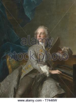Jean-Marc Nattier-Portrait Of Francis Greville, Baron Brooke, Later 1st Earl Of Warwick (17191773) - Stock Photo
