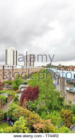 Panorama of De Esch neighbourhood of Rotterdam, Netherlands - Stock Photo