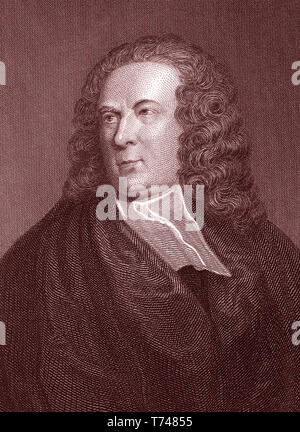 EDWARD YOUNG (1683-1765) English poet and philosopher - Stock Photo