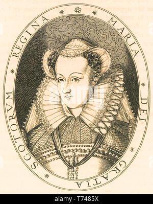 MARY QUEEN OF SCOTS (1542-1587) aka Mary Stuart - Stock Photo