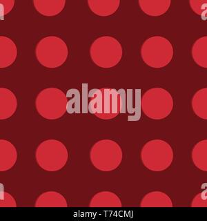 Polka Dot Pattern, Seamless Background - Stock Photo