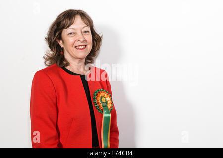 Jill Evans MEP - Plaid Cymru Member of the European Parliament for Wales - Stock Photo