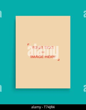 Mockup of a portrait-oriented magazine or catalogue. Blank sheet of paper. Element for advertising and promotional message. 3d vector illustration for - Stock Photo