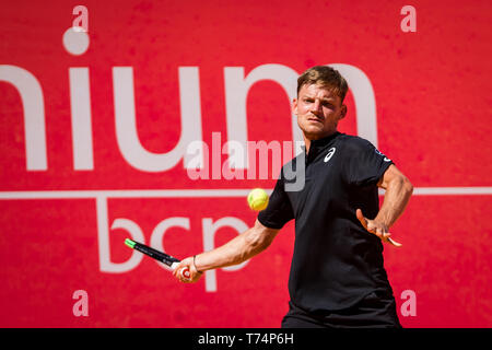 Estoril, Portugal. 03rd May, 2019. Belgium David Goffin during the game with the Tunisian Malek Jaziri for the Millennium Estoril Open ATP 250 tennis match, in Estoril, near Lisbon. Credit: SOPA Images Limited/Alamy Live News - Stock Photo