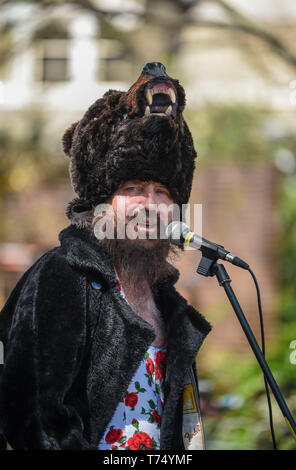 Brighton UK 4th May 2019 - Performers at the Brighton Festival Fringe 'Streets of Brighton' event in the city centre on the opening day. Credit: Simon Dack / Alamy Live News - Stock Photo