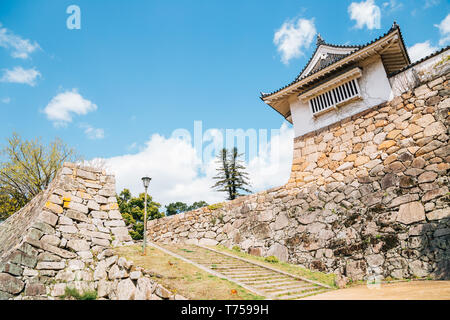 Okayama Castle traditional architecture in Japan - Stock Photo