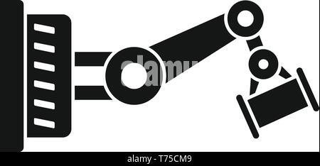 Car factory robot part icon. Simple illustration of car factory robot part vector icon for web design isolated on white background - Stock Photo