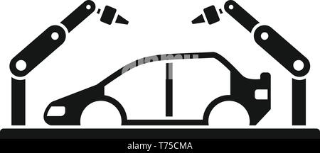 Robot car assembly icon. Simple illustration of robot car assembly vector icon for web design isolated on white background - Stock Photo