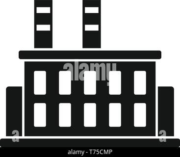 Car factory building icon. Simple illustration of car factory building vector icon for web design isolated on white background - Stock Photo
