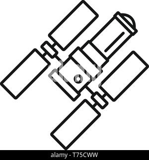 Space station icon. Outline space station vector icon for web design isolated on white background - Stock Photo
