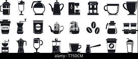 Barista icons set. Simple set of barista vector icons for web design on white background - Stock Photo