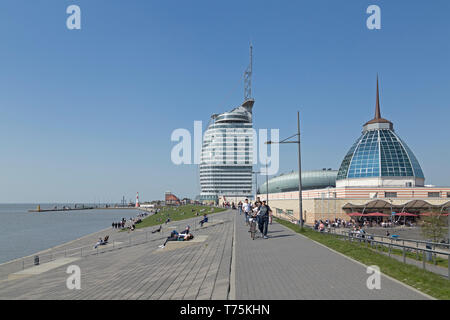 ATLANTIC Hotel Sail City and Mediterraneo, Bremerhaven, Bremen, Germany - Stock Photo