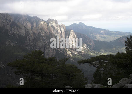Mountains in the Monte Incudine massif Corsica France - Stock Photo