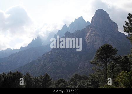 Aiguilles de Bavella Parc Naturel Regional de Corse Corsica France - Stock Photo