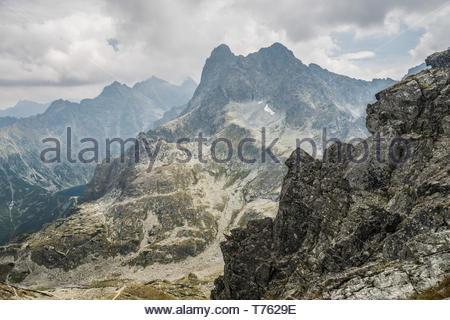 Landscape of mountain peaks - Stock Photo