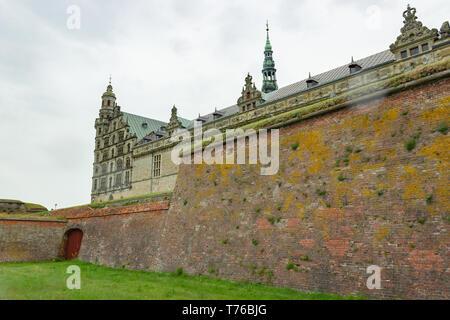 Kronborg castle, Denmark - Stock Photo