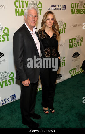 NEW YORK, NY - APRIL 30: Actor Richard Gere and Alejandra Silva attend City Harvest: The 2019 Gala on April 30, 2019 at Cipriani 42nd Street in New Yo - Stock Photo