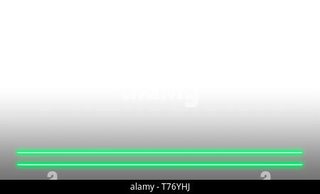 Green neon lights with lots of copy space for text or product display. Modern abstract background. - Stock Photo