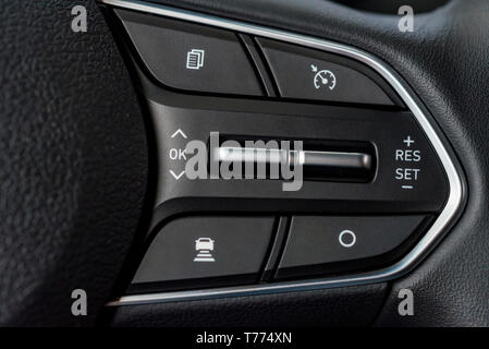 Close up modern car panel with different buttons - Stock Photo