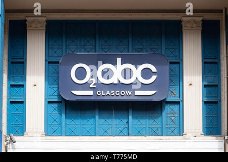O2 ABC Sauchiehall Street, Glasgow music venue - boarded up after being severely damaged by fire in 2018 - Stock Photo