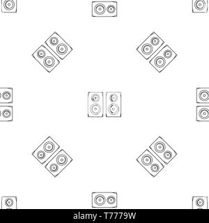 Studio speakers pattern seamless vector repeat geometric for any web design - Stock Photo