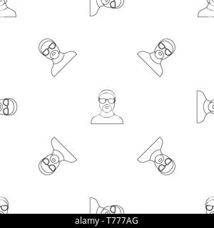 Hip hop man pattern seamless vector repeat geometric for any web design - Stock Photo