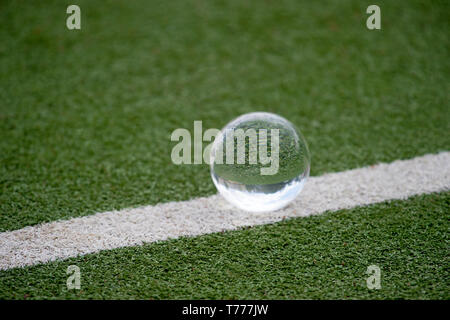 ball for playing on the grass background - Stock Photo