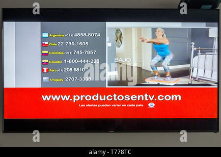 Cartagena Colombia TV television monitor screen flat screen www.productosentv.com marketing shopping channel Latin America telemarketing - Stock Photo