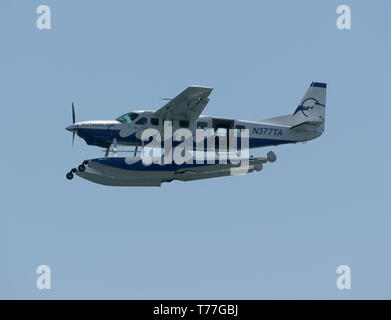 Florida, USA. 04th May, 2019. Sea Plane performs in the Fort Lauderdale Air Show on May 4, 2019 in Fort Lauderdale, Florida   People:  Sea Plane Credit: Storms Media Group/Alamy Live News - Stock Photo