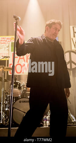 04.05.2019.  Terry Hall, lead singer of The Specials, playing live at the O2 Academy in Newcastle, England, as part of their tour to celebrate the band's 40th birthday. Credit: Ernesto Rogata/Alamy. - Stock Photo