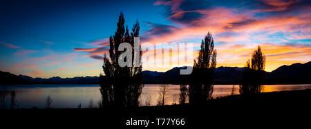 Peaceful South Island Lake Tekapo - Stock Photo