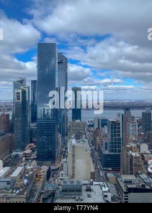 Hudson Yards skyscraper development in Midtown West, New York City - Stock Photo