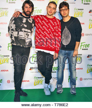 Years and Years at Free Radio Live at the Genting Arena in Birmingham on Saturday 28 November 2015 - Stock Photo