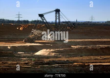 Brown coal mine Hambach in the Rheinische Revier - Stock Photo