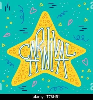 Bright hand drawn lettering quote for carnival. Traditional dancing holiday. Phrase for posters, t-shirts and wall art. - Stock Photo