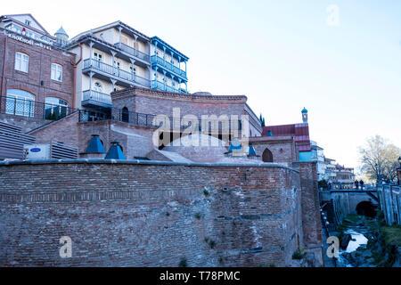 Sulphur baths ( Abanotubani, Tbilisi, Georgia) - Stock Photo