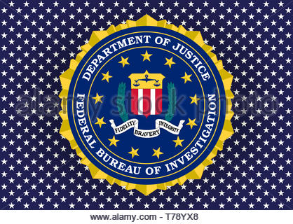 Federal Bureau of Investigation FBI logo seal - Stock Photo