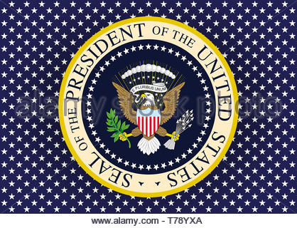 President of the United States logo seal - Stock Photo