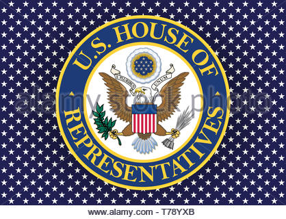 United States House of Representatives logo seal - Stock Photo
